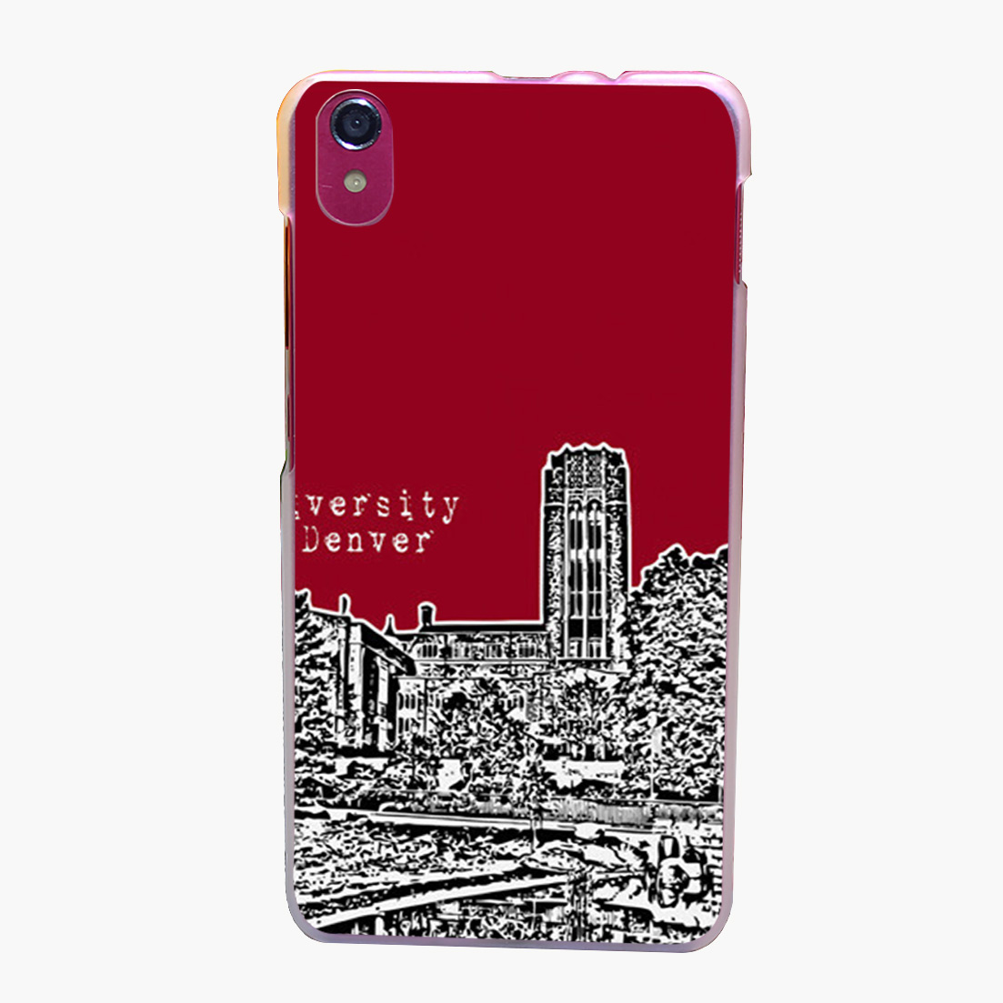 3242Gp University Of Denver Red Transparent Hard for Lenovo S850 S850T S60 S90 A563/A358T A328 A328T Case Cover(China (Mainland))