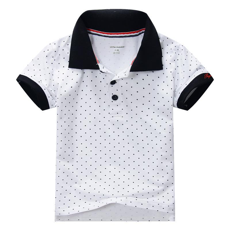 Здесь можно купить  New Design Summer Boy Clothing T-shirt Polka Dot Black/White Color Kids Clothes Boys  Детские товары