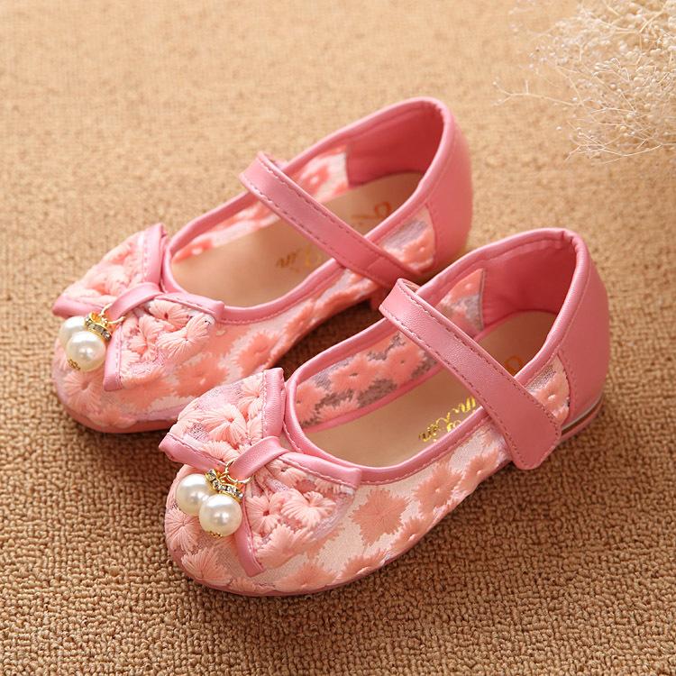 Девочки обувь весна бант обувь сандалии издание девочки бант принцесса жемчуг один обувь