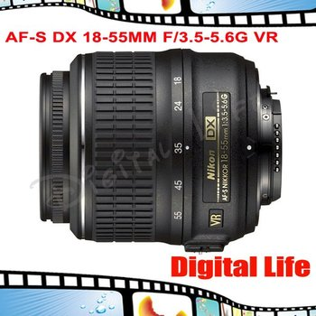 Nikon AF-S DX 18-55mm F/3.5-5.6G VR Lens for Nikon DSLR Digital Camera