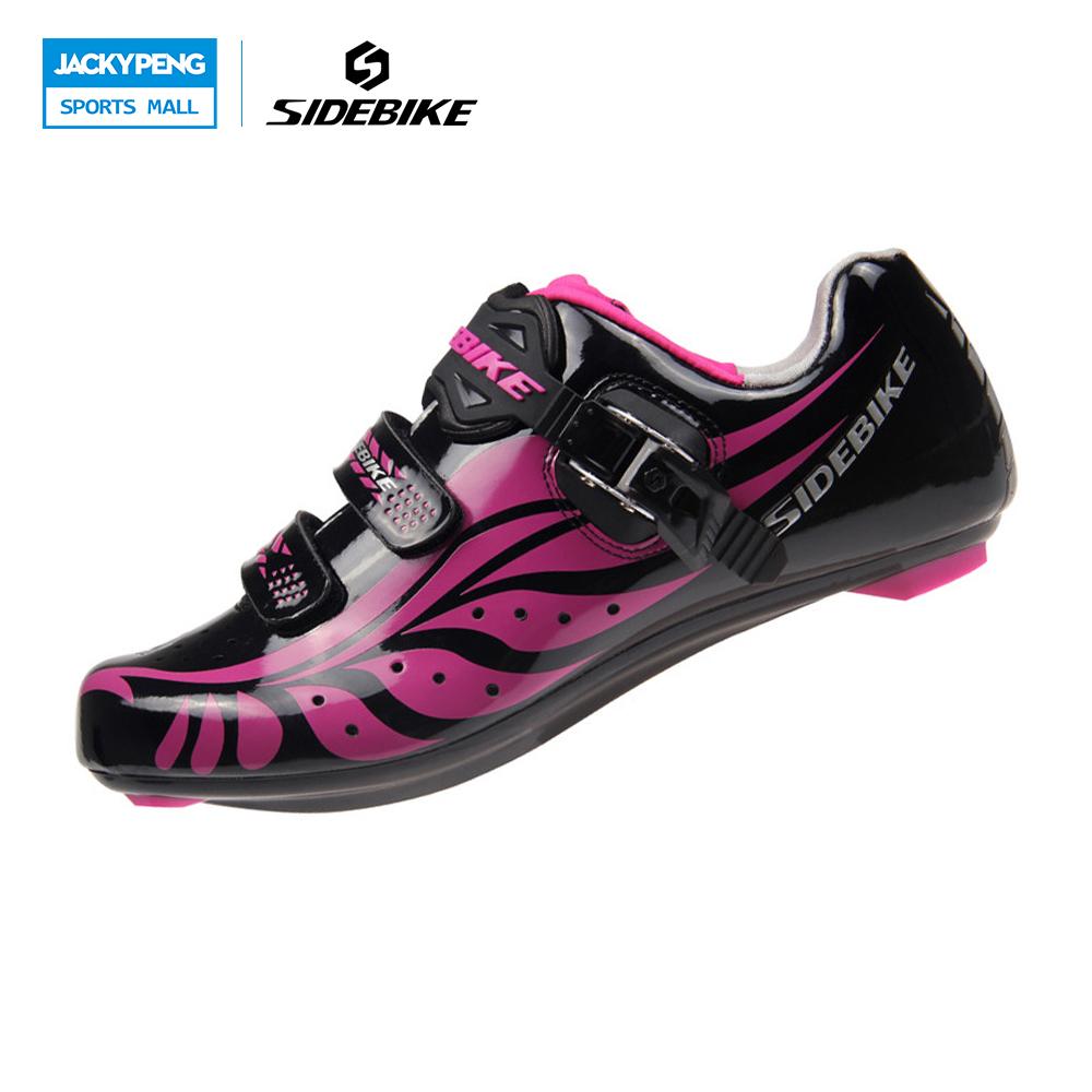 SIDEBIKE Professional Bicycle Cycling Women Shoes For Mountain Bike Racing Bicycle Shoes MTB Road Bike Shoes Trekking Shoes(China (Mainland))