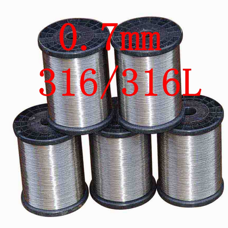 0.7mm,316/316L Soft Stainless Steel Wire,22 gauge around/0.7mm SS Seaworthy Thread(China (Mainland))