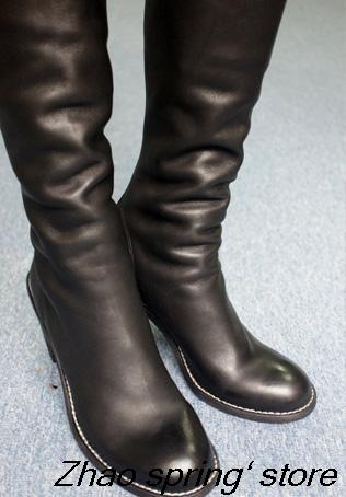 ALEX SARA after 2014 GUIDI Diablo style zipper ankle boots suede leather round naked in boots<br><br>Aliexpress