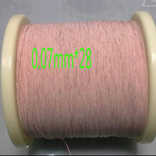 Buy 0.6mm,0.07x28 strands, (50m /pc) Mine antenna Litz wire,Multi-strand polyester silk envelope braided multi-strand wire for $9.79 in AliExpress store