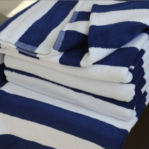 Summer Style 2015 Beach Towel Blue and White Stripe Design Cotton Bath Towel Plus Size(China (Mainland))