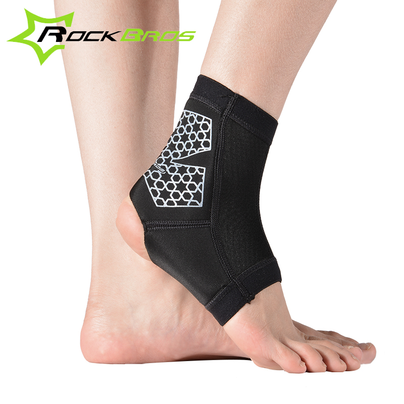 Rockbros Cycling/Football/Basketball Sports Ankle Support Black 1 Piece Unisex Ankle Brace(China (Mainland))