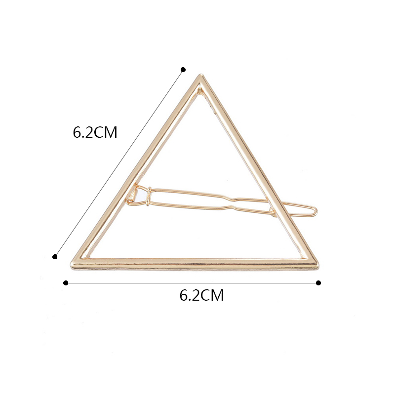 Fashion Girls Women Hair Pin Bobby Pins Hollow Out Triangle Hair Clip Hairpin Wedding Party Hair Accessories Tiara Gold color(China (Mainland))