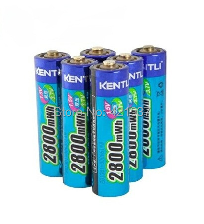 KENTLI 2800mWh AA battery 1.5V rechargeable camera lithium polymer
