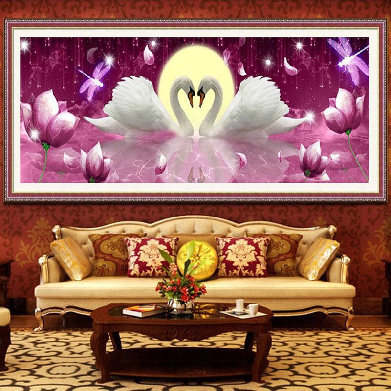 Diamond Mosaic 5D Round Rhinestones Swan Painting Cross Stitch Craft DIY Diamond Embroidery(China (Mainland))