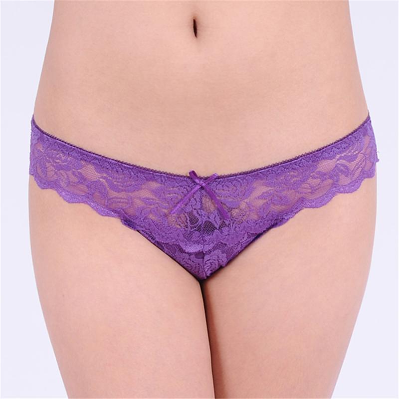 Free shipping Brand Cotton Womens Sexy Lace Thong Panties women G String underwear women underwear Sexy Thong Lace T Word Pants(China (Mainland))