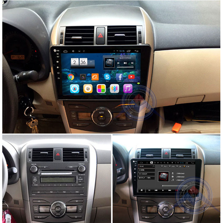 Quad Core 1024*600 10.2 inch Android stereo Fit TOYOTA COROLLA 2007 2008 2009 2010 2011 Car DVD Player Navigation GPS Radio(China (Mainland))