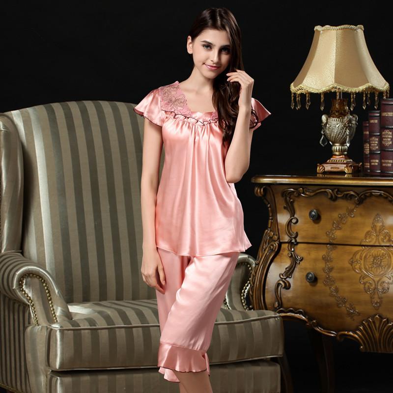 Popular 100 Silk Pajamas-Buy Cheap 100 Silk Pajamas lots from ...