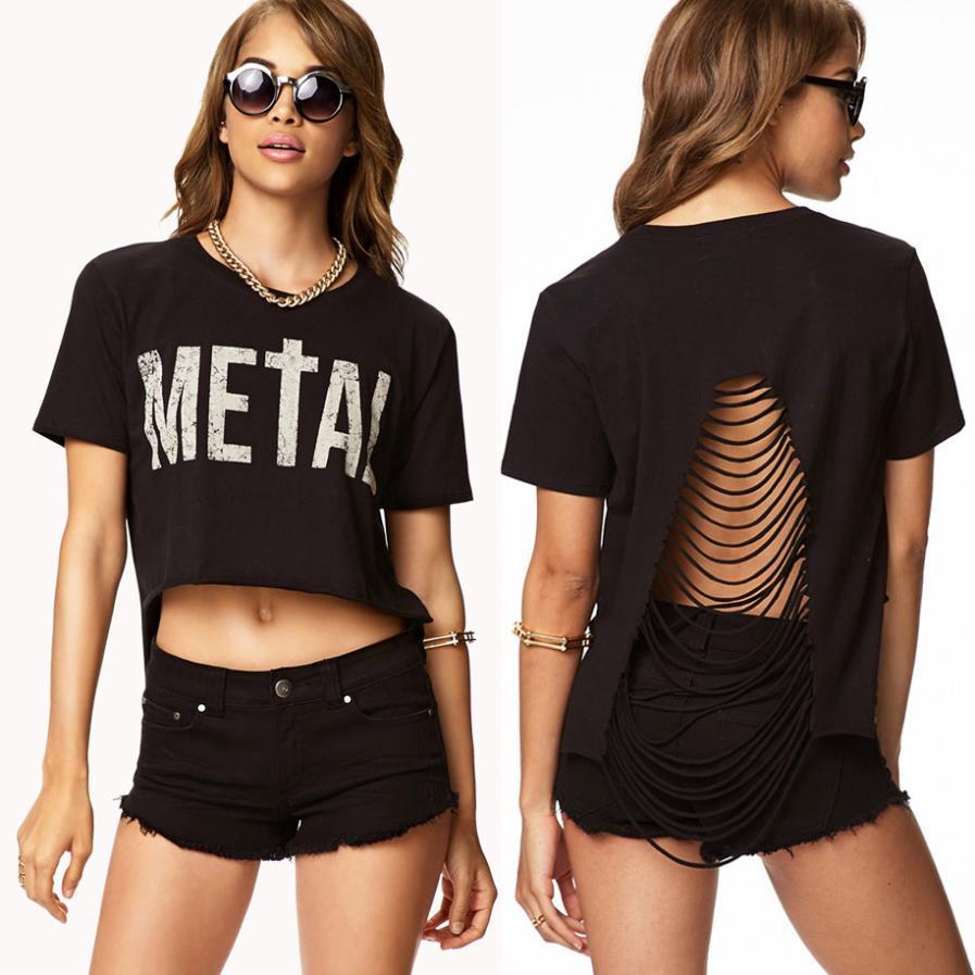 Короткая женская футболка