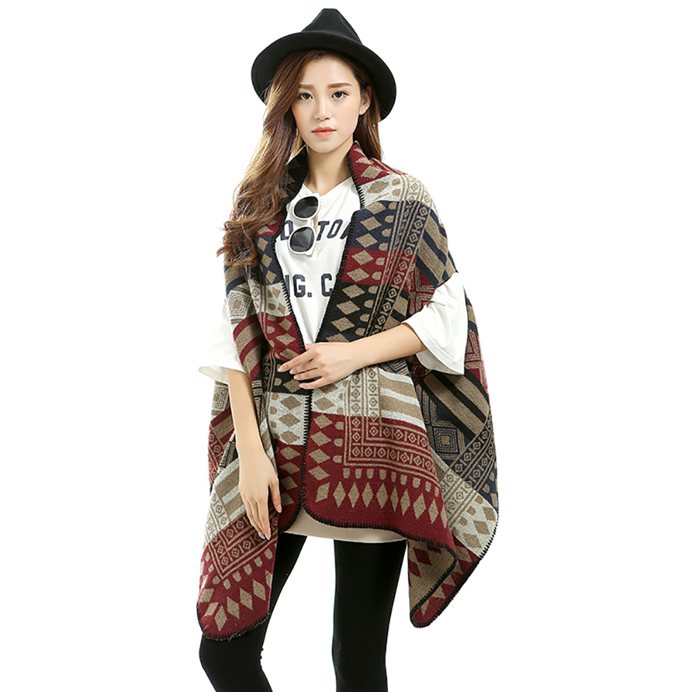 Big Square Scarf Poncho High Quality Wool Blend Scarf Fashion Brand Winter Scarf Women Design Pashmina Shawls and Scarves S-010(China (Mainland))