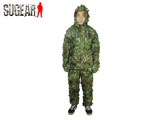 3D Leaf Camouflage Hunting Camo Disguise Sniper Archery Ghillie Suit Disguise Uniform Clothes For Hunting For Men Paintball Wear