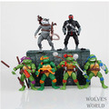 Free shipping 6 pieces lot Teenage Mutant Ninja Turtles Action Figure 4 hand done tmnt Toy
