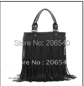 free shipping Fashion Women Punk Tassel Fringed Handbag Tote Shoulder Purse Bag Moonar