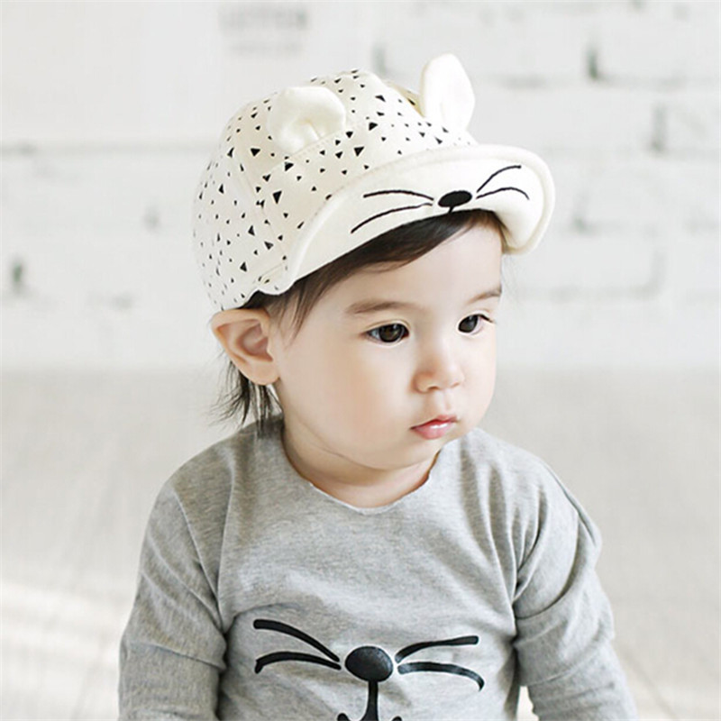 0-1 years old Soft Brim Hats for Children Kids Boys Girls Snapback Hats casquette Caps gorras kids Sun Hats Fit For 44-48cm(China (Mainland))