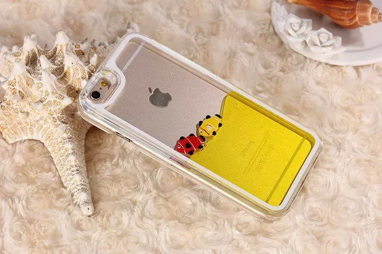 """Lovely Plastic Chrome Hard Case Liquid Fish Duck Phone Case Back Cover For Apple iPhone 6 Plus 5.5""""(China (Mainland))"""