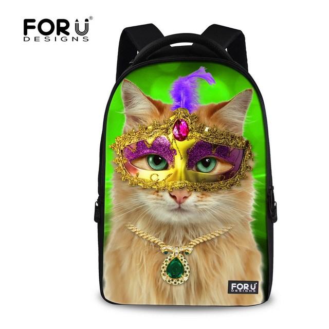 Kawaii животных кошка девушки рюкзак большой емкости женщины школа рюкзак туризм ...