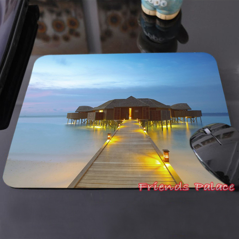 Create Your Own Style Mouse Pad Grand Ocean Sky Blue Maldives Luxury Water Villa  Custom-made Mouse Computer Notebook Mat Mat<br><br>Aliexpress