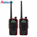 2pcs 5W Portable Walkie Talkie Retevis Red RT5 VHF UHF 136 174 400 520MHz VOX FM