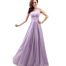 Bridesmaid Dresses 2016 Light Purple Ruched Chiffon Long Vestido De Festa De Casamento Slim Strapless Wedding Party Dress BV34(China (Mainland))