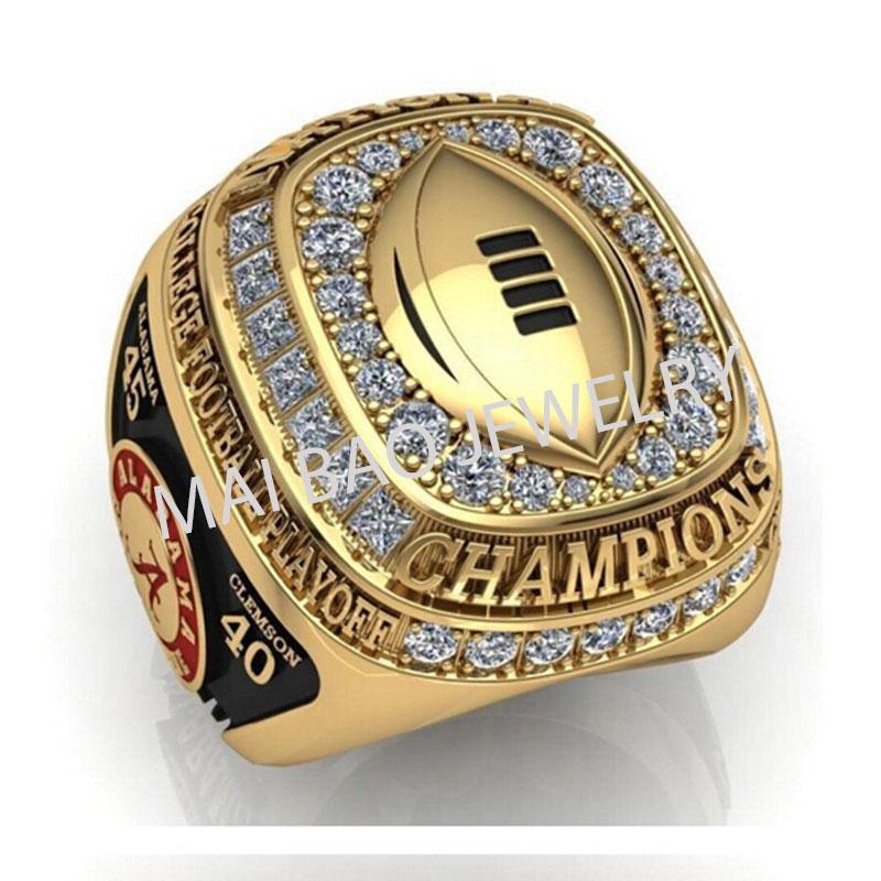 Factory Hot Sale 2016 New Arrival NCAA 2015 Alabama Crimson Tide Football National Championship Ring Replica Free Shipping(China (Mainland))