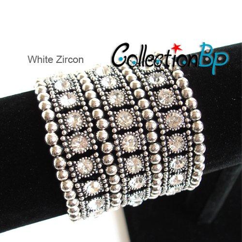 Fashion and Cover scar flexible telescopic Alloy Elastic Zircon Chain Bracelet(China (Mainland))