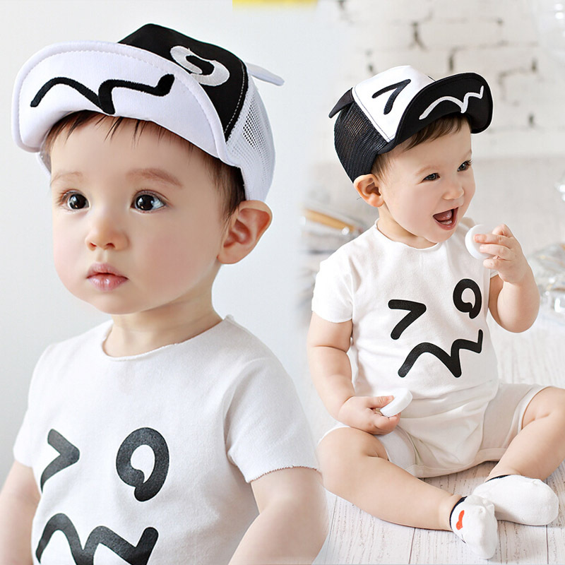 Summer Style Baby Hat infant Caps Letter Children Baseball Caps Boys & Girls Peaked Hats Sun Hats Free Shipping(China (Mainland))