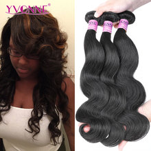 Unprocessed Brazilian Virgin Hair Body Wave Bundles,3Pcs/Lot Remy Human Hair Extension,8~28 Inches Aliexpress Yvonne Hair(China (Mainland))