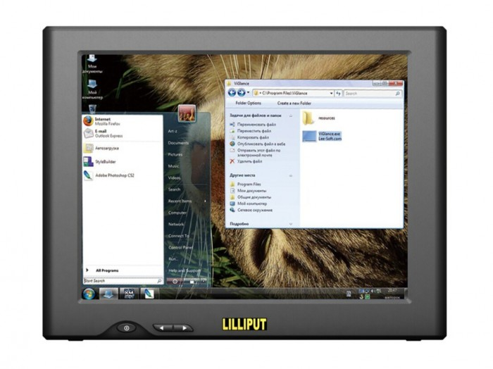 8 Inch Touchscreen USB Monitor,LILLIPUT UM-82/C/T For PC etc.,Resolution:800x600,Build-in 2 Speakers(China (Mainland))