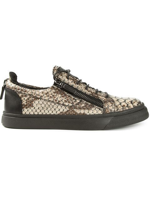 Euro fashion street sneakers guisep brand design zanotty flat mens womens snake skin leather mens loafers side zippers shoes(China (Mainland))