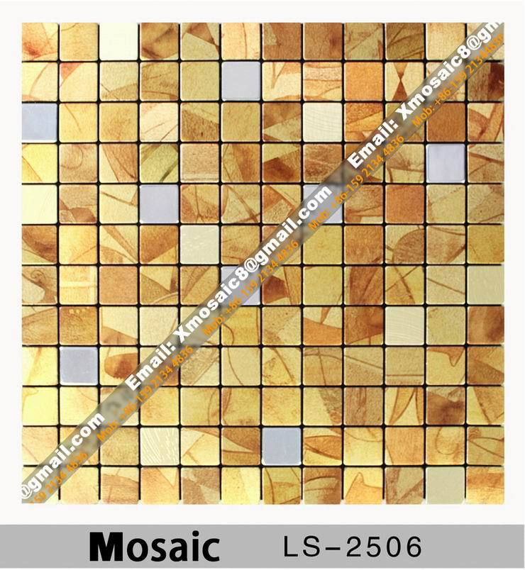 Aluminum Wall Mosaic #LS-2506; Interior Ceiling and wall decoration materials; Size is 316MMX316MM per Piece<br><br>Aliexpress
