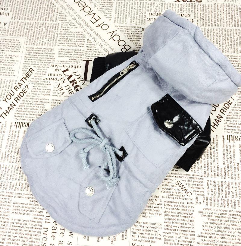 Fashion Pet Clothing Dongkuan Thick Tunic Coat Dog Clothes Pet Supplies Free Shipping DF-11#(China (Mainland))