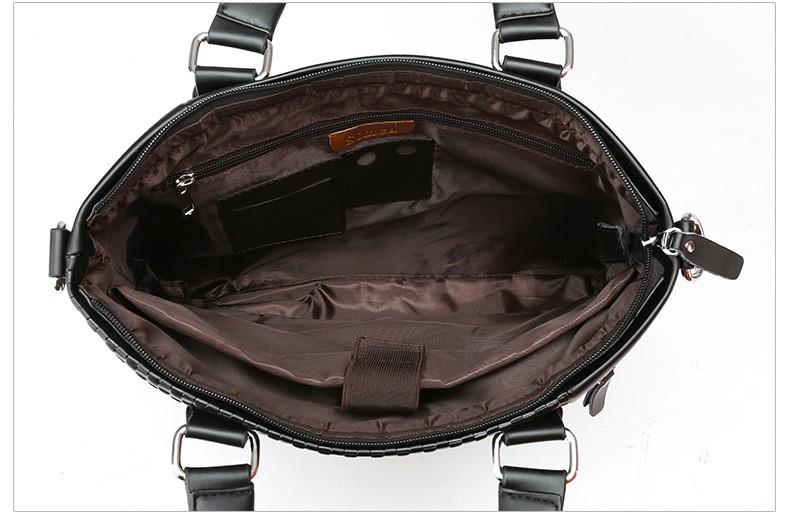 ซื้อ ผู้ชายธุรกิจbriefcase ipadกระเป๋าหนังผู้ชายกระเป๋าถือ