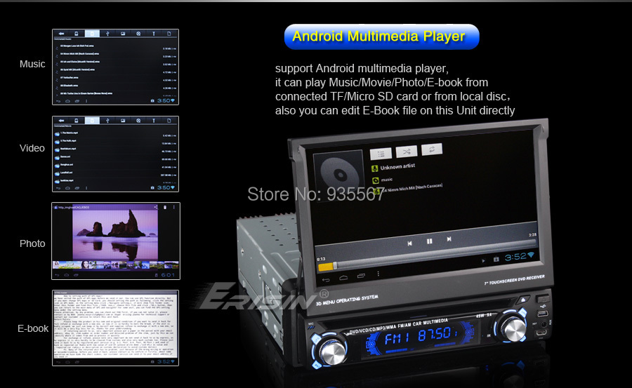 Russian 7 1 Din HD Android 4 0 4 Car DVD Player Autoradio GPS WiFi 3G