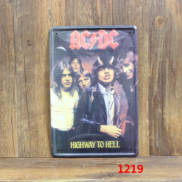 AC DC HIGHWAY TO HELL Home Decoration Retro Tin Signs Wall Art decor Bar Vintage Metal Craft Painting Wall Stickers Plaque
