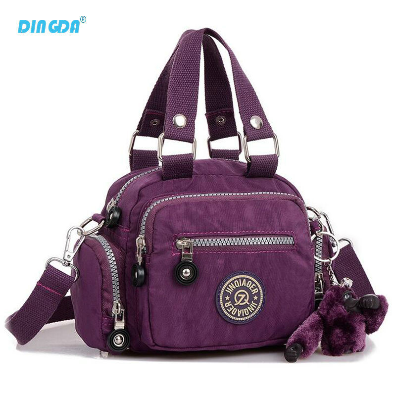 Luggage&amp;bags NewFashion Pure Color Tote New Design Women Messenger Bags Brand Nylon Kippl Hand bag Waterproof Outdoor Travel Bag<br><br>Aliexpress