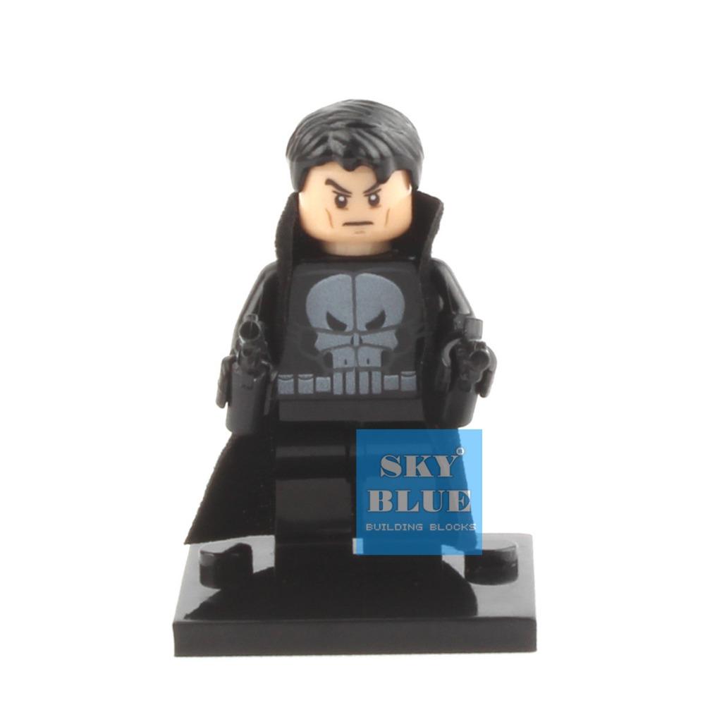 XINH 165 The Punisher Building Blocks Super Heroes Avengers Ultron Single Minifigures Bricks Mini Figures Toys