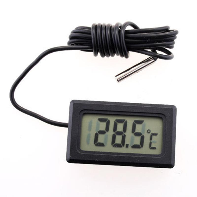 1pc LCD Display Car refrigerator aquarium fish tank embedded electronic digital thermometer Free shipping SZ01049