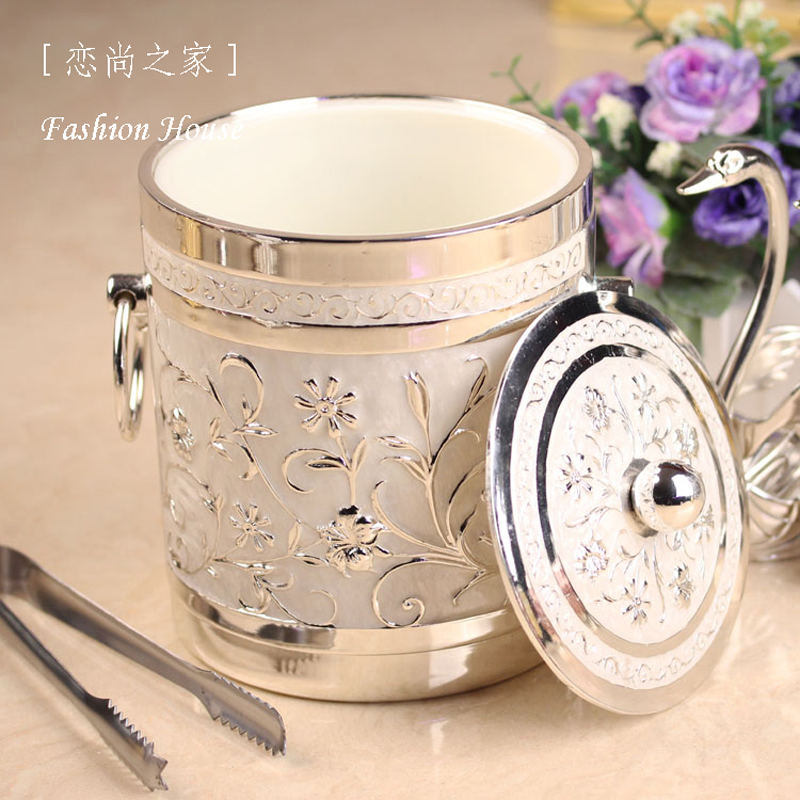 Fashion ice bucket luxury classical ice-pail decorations red wine home decoration accessories(China (Mainland))