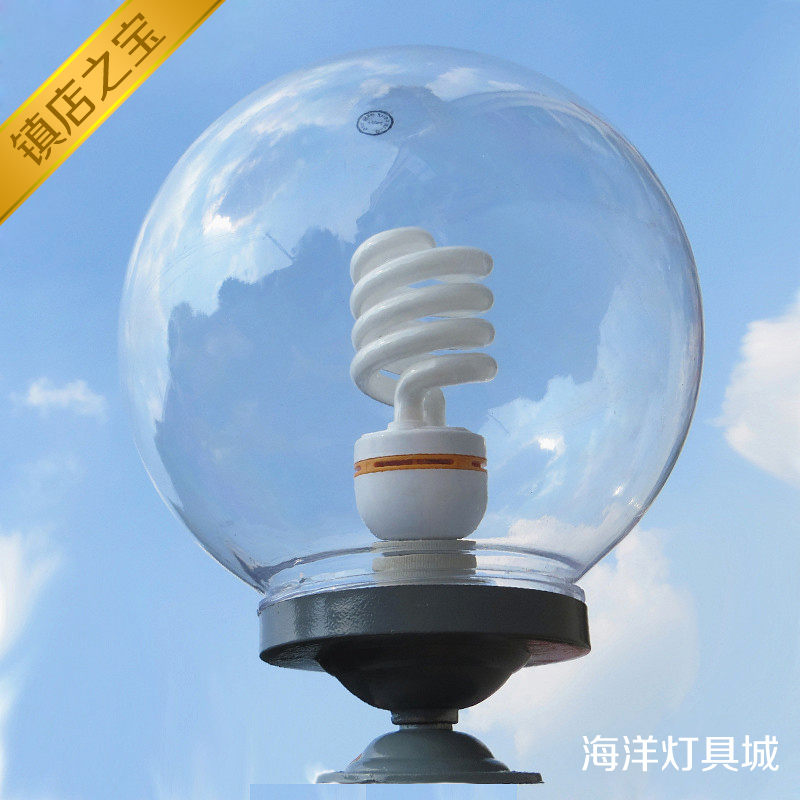 Round Ball Wall Lights : Outdoor waterproof transparent round ball lamp cover shatterproof acrylic ball wall light ...