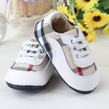 Non slip rubber soft soled Baby Toddler shoes fashion Plaid Cotton inside comfortable baby leisure shoes infant casual shoes (China (Mainland))