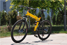 folding bicycles 26 inch folding mountain bike front and rear disc brakes folding bike MTB Scalable 24s 27s and aluminum frame(China (Mainland))