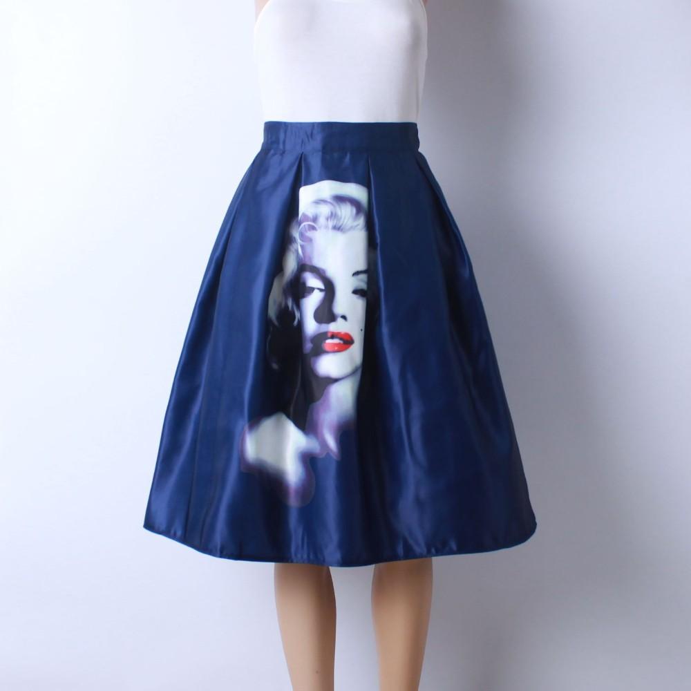 HTB1gmI0LVXXXXa4aXXXq6xXFXXXn - GOKIC 2017 Summer Women Vintage Retro Satin Floral Pleated Skirts Audrey Hepburn Style High Waist A-Line tutu Midi Skirt