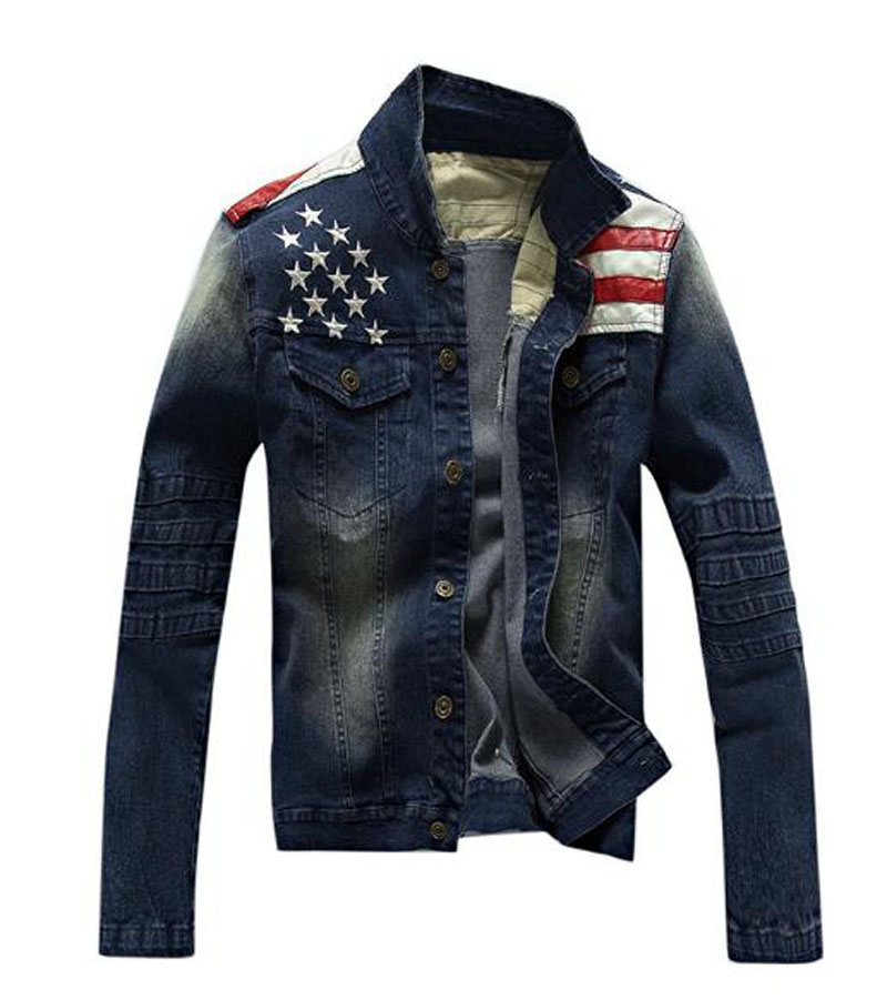 2015 fall and winter jacket men clothes new arrival men s casual washed denim jacket men