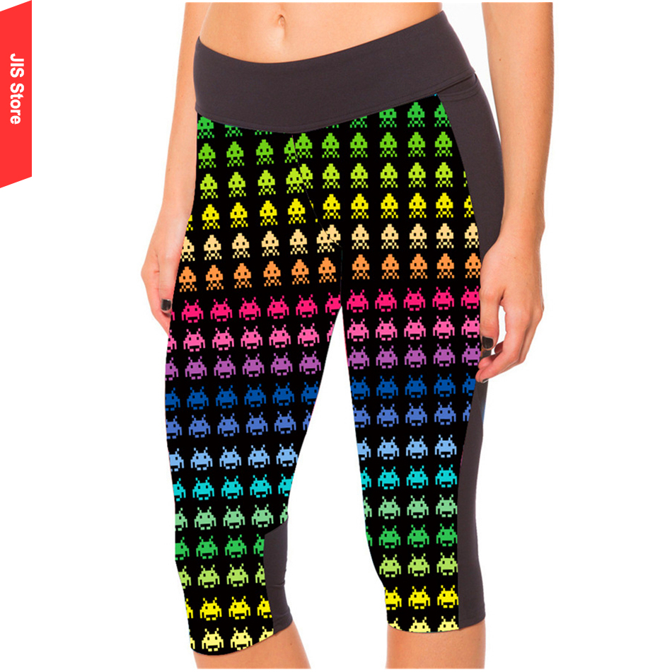 JIS Women's Running Pants Compression Tights Leggings Sportswear Jogging Yoga Fitness Workout Quick Dry Cropped GYM Trousers(Hong Kong)