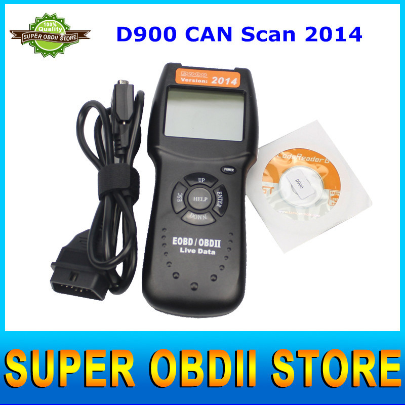 Free Shipping CAN Scan D900 Obd2 Canbus Live PCM Data Code Reader Scanner Auto Code EOBD Diagnostic Car Tool Direct Selling(China (Mainland))