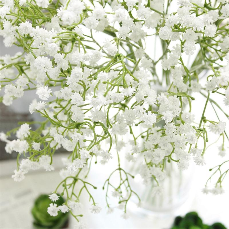 1PC DIY Artificial baby's breath Flower Gypsophila Fake Silicone plant for Wedding Home Hotel Party Decorations